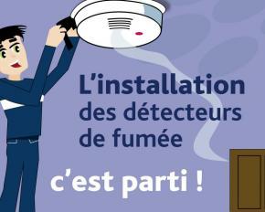 Installation des d tecteurs de fum e dans votre logement for Pose detecteur de fumee